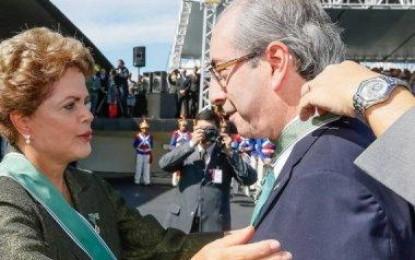 Dilma janta com Eduardo Cunha e discute lei das terceirizações