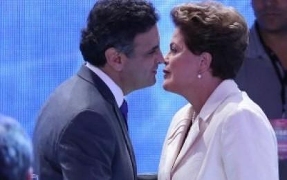 Dilma e Aécio no velório: um beijo selou a paz