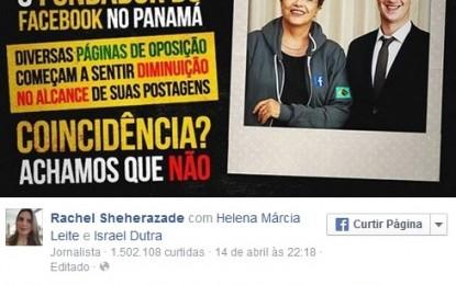 Sheherazade culpa Dilma e Zuckerberg por queda de audiência em sua página