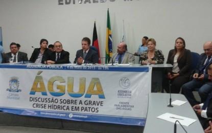 Assembleia Legislativa realizou audiência pública em Patos sobre alternativas para questões hídricas na região
