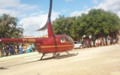 Em meio a 'calamidade pública' prefeito de Santa Rita aluga helicóptero para fazer campanha política e vídeo vaza nas redes sociais
