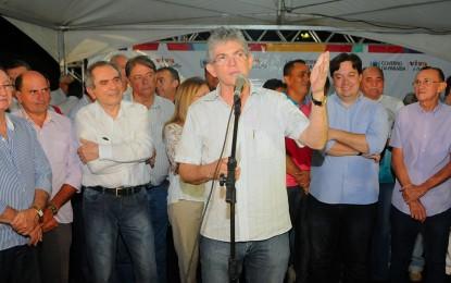 Ricardo inaugura Estrada do Amor e entrega ginásio no aniversário de Cajazeiras