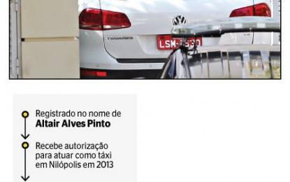 CUNHA TEM UM TAXI PIRATA: Táxi encontrado na casa de Cunha não deveria circular, segundo prefeitura