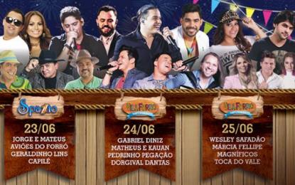 São João Spazzio e Vila Forró 2016 Campina Grande – Programação