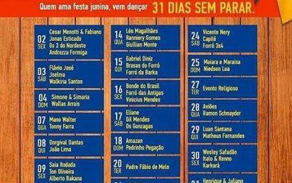 Sai a programação do São João do Mundo em Campina Grande 2017