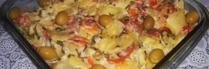 Salada de batata ao microondas