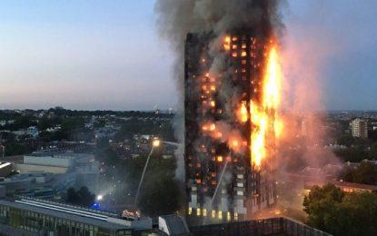 Incêndio atinge prédio de 24 andares