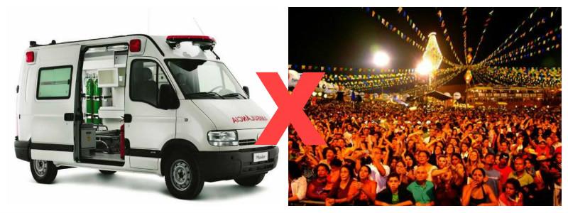 Prefeito paraibano troca um dia da festa de São Pedro por uma ambulância para a população