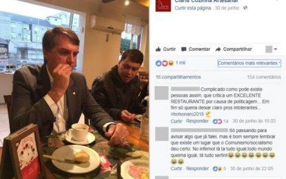 Restaurante de Porto Alegre posta fotos de café da manhã de Bolsonaro e gera polêmica