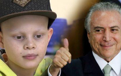 Temer fecha Hospital do Câncer que cuidava de 500 crianças pelo SUS
