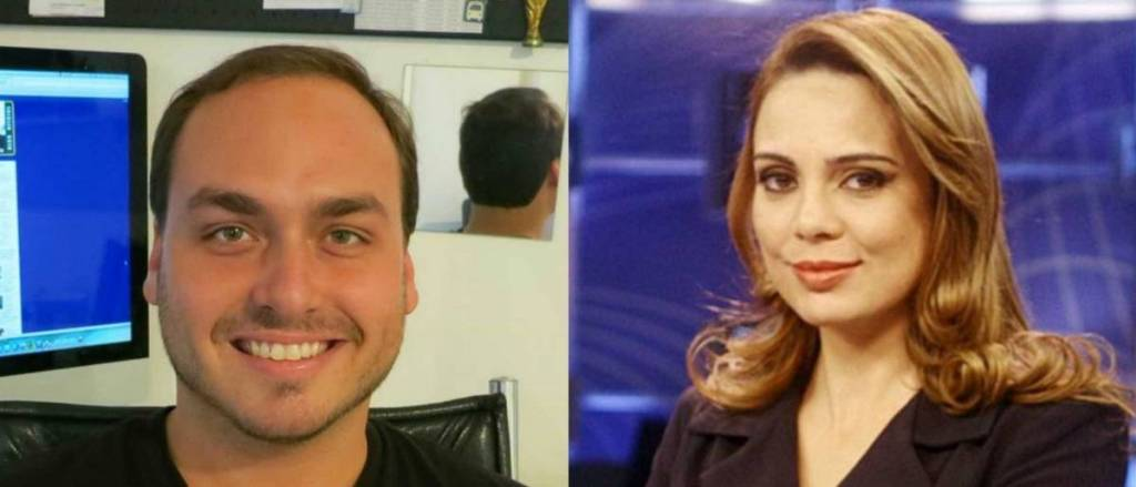 Sheherazade discute com filho de Bolsonaro: 'Respeite minha família'