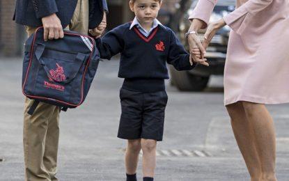 Após três semanas de aula príncipe George estaria cansado da escola