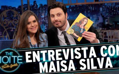 VEJA VÍDEOS: Danilo Gentilli troca canecas e dá bebida alcoólica para Maisa no 'The Noite'