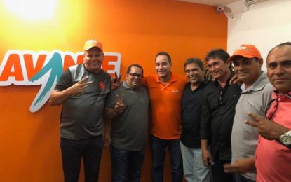 Comitiva do Avante Paraíba participa de posse da nova presidente do partido no RN