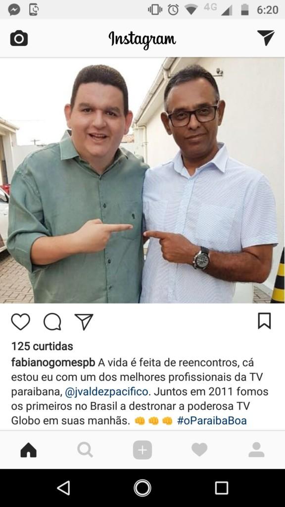 VALDEZ TEM NOVA CASA: Fabiano Gomes já conta com novo reforço nas manhãs da Arapuan