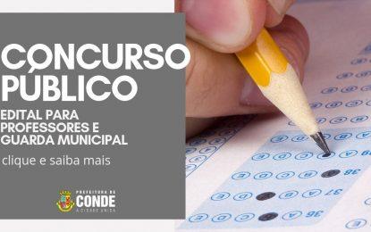 Prefeitura de Conde lança edital de Concurso Público com 71 vagas