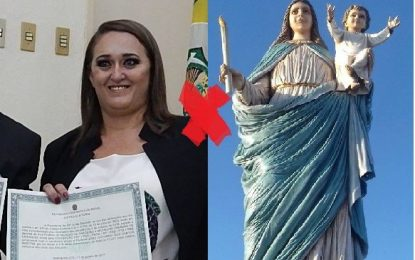 Prefeita evangélica chama Nossa Senhora de amaldiçoada e diz que santa é culpada por falência do município