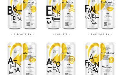 AFRONTOSA, EMBUSTE E ARROBA: Skol lança latas de cerveja com gírias da internet