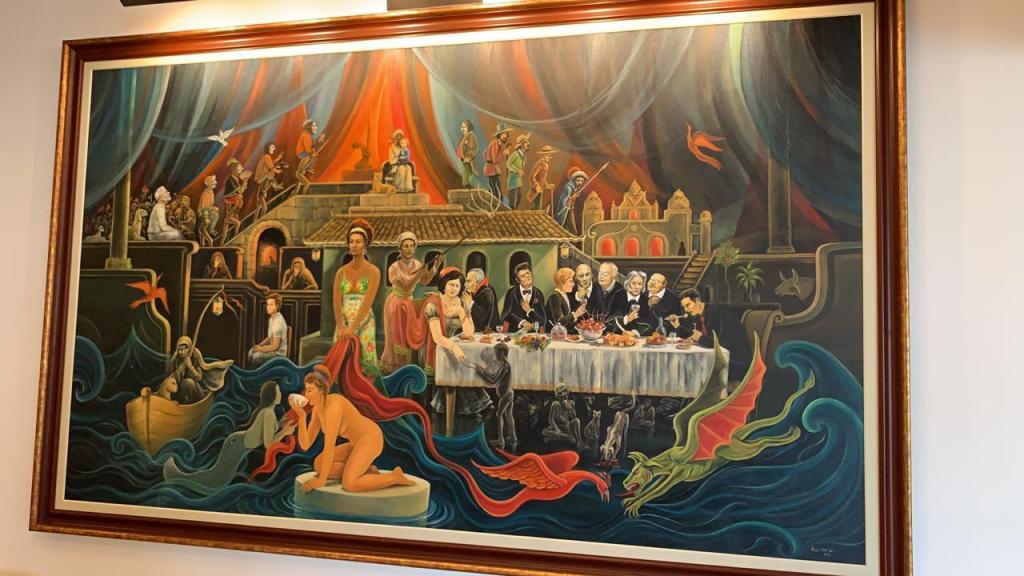 A obra de arte apreendida na mansão do ex-presidiário Ricardo Coutinho