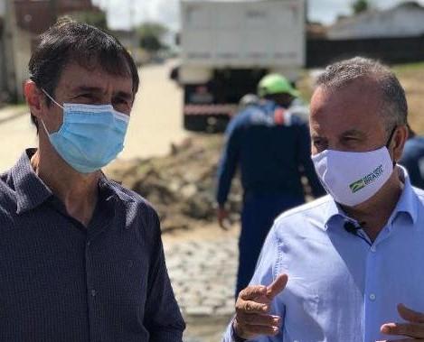 Romero recebe Rogério Marinho, faz vistoria de obras com o ministro e assegura liberação de novos recursos para Campina Grande