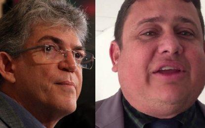 Determinação da justiça: Ricardo Coutinho deve pagar multa de R$ 5 mil por vídeo em que ofende Wallber Virgolino