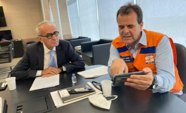 Em reunião com secretário nacional da Defesa Civil, Cícero trata sobre recursos para falésia do Cabo Branco