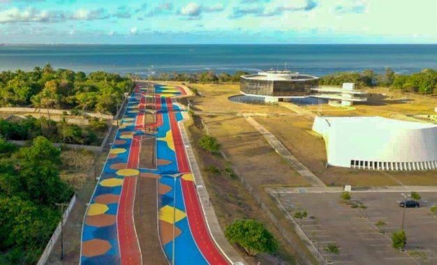 Cartaxo pintou o asfalto da Estação Ciência e diz que fez um parque linear