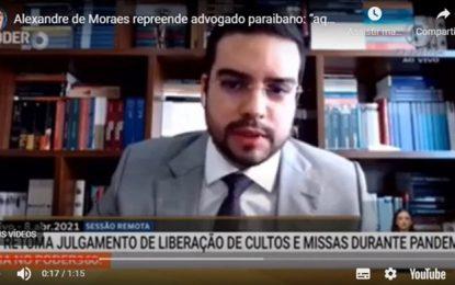 VÍDEO: Advogado paraibano leva carão de Alexandre de Moraes ao puxar saco de Kássio Nunes