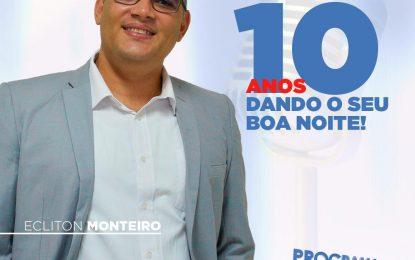 Ecliton Monteiro, da rádio poste da UFPB para os microfones da rádio Correio