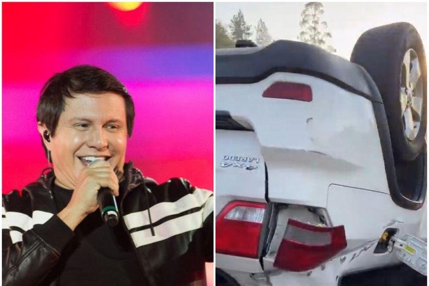 Cantor Giovani, da dupla com Gian, sofre acidente de carro na Rodovia Presidente Dutra