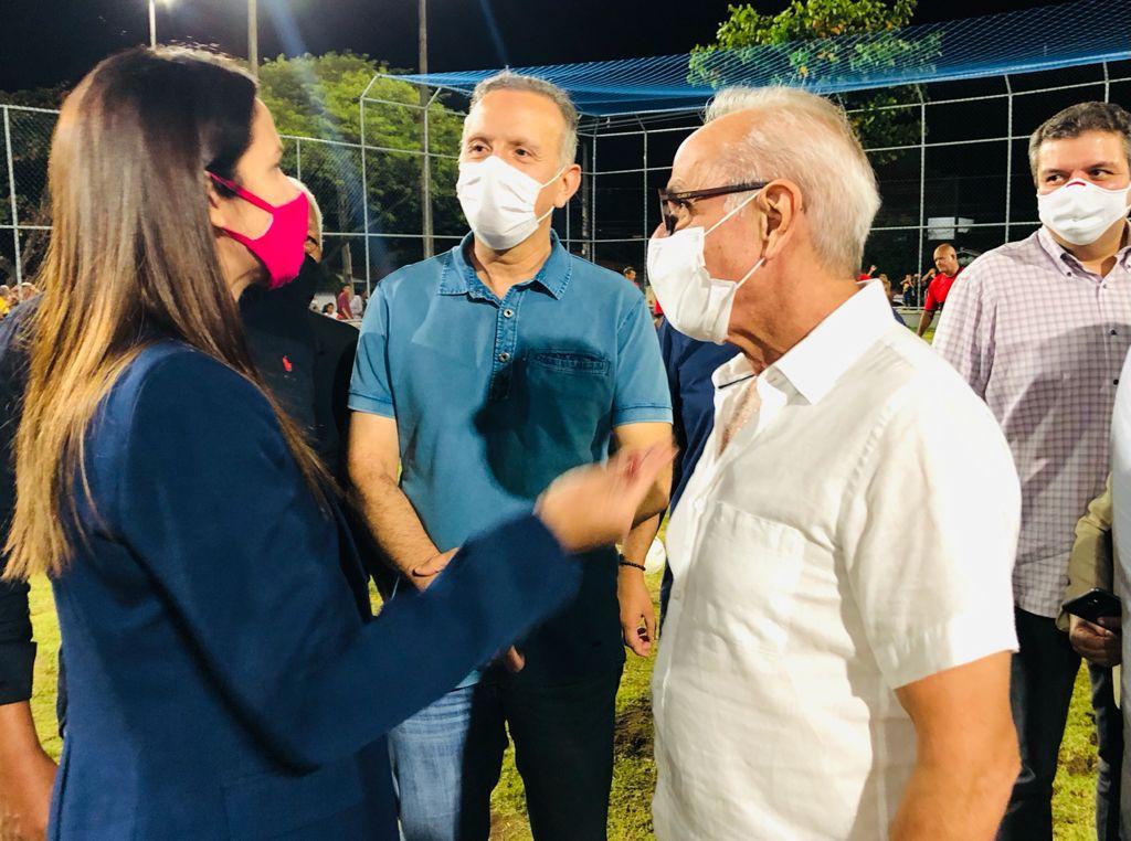 Ao lado de Cícero Lucena e Leo Bezerra, Aguinaldo participa de agenda movimentada em João Pessoa