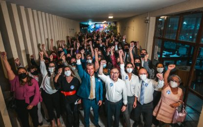 Centenas de advogados prestigiam lançamento da candidatura de Paulo Maia a conselheiro federal da OAB