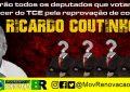 Movimento Renovação BR vai espalhar outdoors com a cara dos deputados que votarem contra o parecer do TCE que reprovou as contas de Ricardo Coutinho